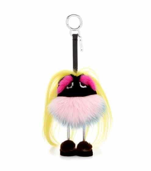 Mini Zaino Monster fur charm   Fendi