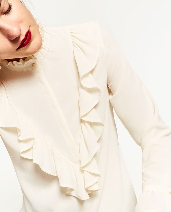 Image 6 of FRILLED BLOUSE from Zara