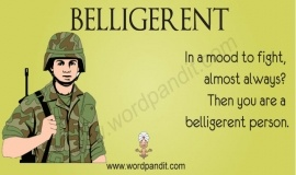 Belligerent: One that is hostile (noun). Being hostile towards anyone or anything will tag you as belligerent. It is an adjective and a noun as well. Its first usage dates back to 1570-80.: Hostil Nouns, Inspiration Lessons Ideas, Teacher Inspiration Lessons