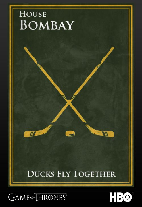 "Gordon Bombay from The Mighty Ducks franchise | 26 ""Game Of Thrones"" Sigils For Famous Fictional Characters"