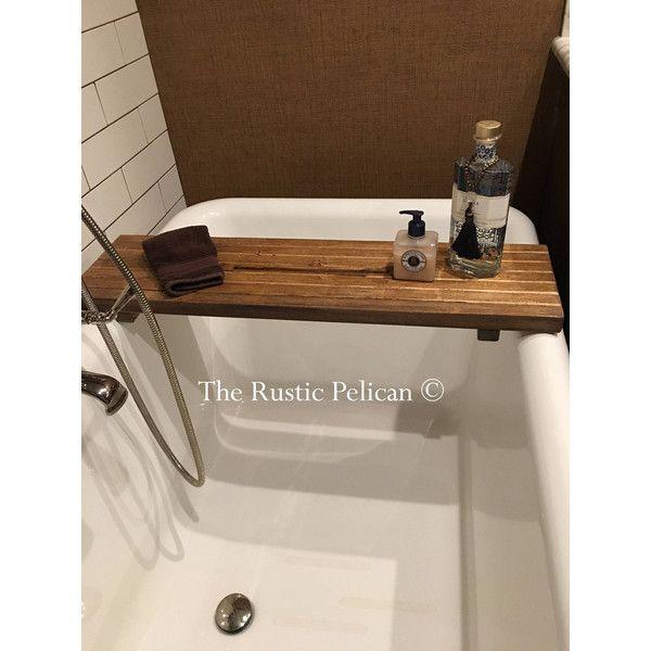 Rustic Bathtub Caddy, Bathtub Tray, Reclaimed Wood Bath Tray, Salvaged.