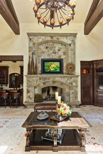 Fireplace old world mediterranean italian spanish for Mediterranean fireplace designs