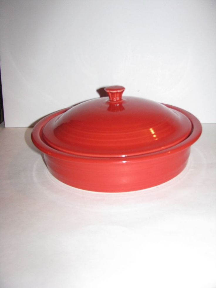 Fiesta Dinner ware, 38 oz Tortilla Warmer, Pancake Warmer, Scarlet red, New 2nd #FiestaFiestaware