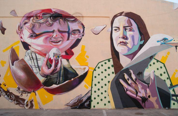 Muralismo Contemporaneo, Chocopote, Graffitea Cheste, con Eleman