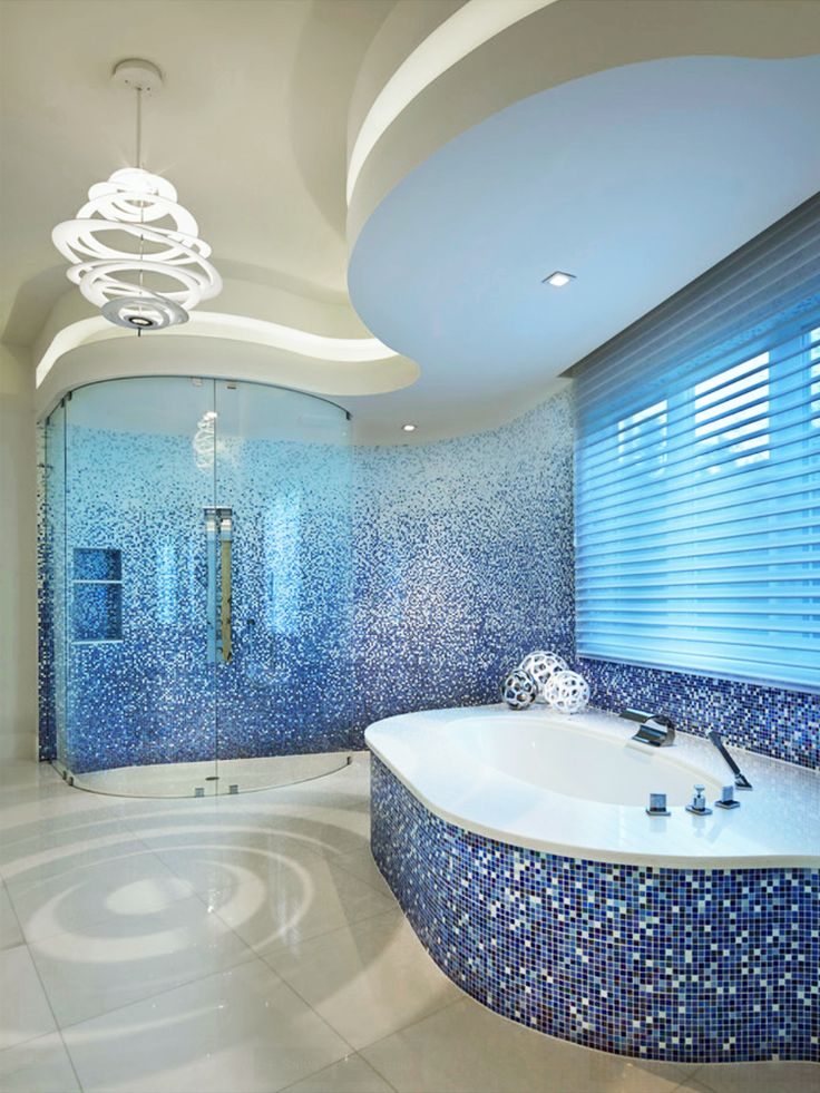 """Trend Mosaics - The """"water"""" concept is enhanced by curved lines and natural colours of the shading blend mosaic."""