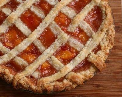 Peach Pie with Lattice Crust | Peach Recipes | Pinterest