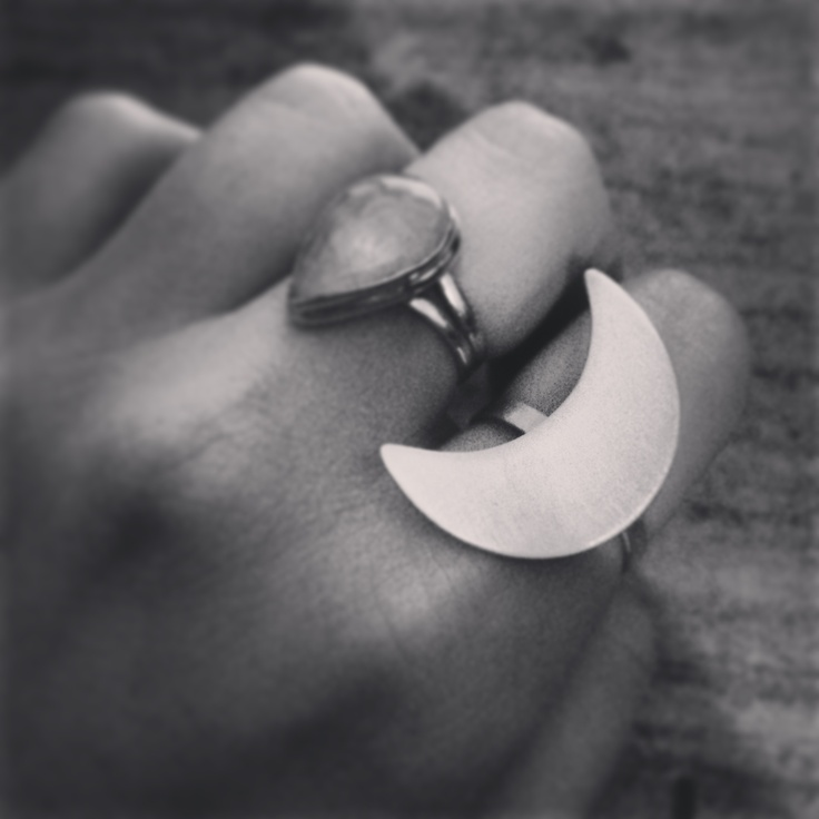 The Bleachers Sterling Silver Crescent Ring