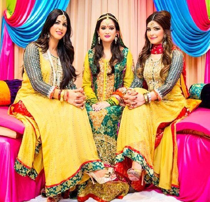 Asian Brides Mehndi Outfits 2016