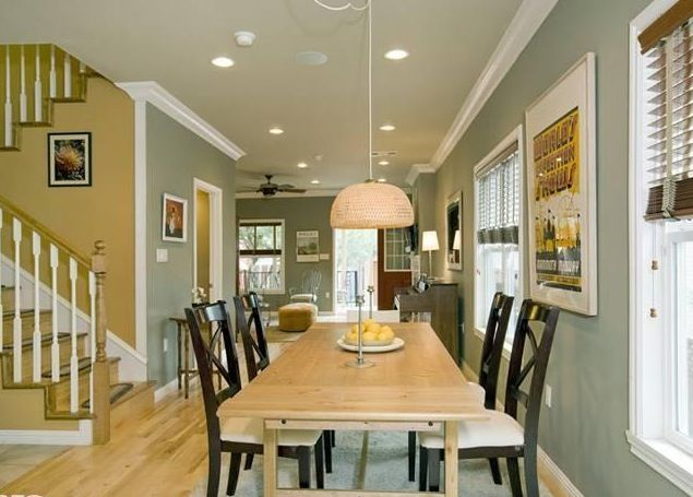 Open floor plan kitchen living room paint colors home - Painting options for a living room ...