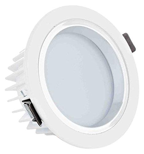 nice 12Watt 4-inch Dimmable Retrofit LED Recessed Lighting Fixture - LED Ceiling Light, 90W Halogen Equivalent Frosted Glass Bright White Shell Remodel Can Light, Recessed LED Downlight