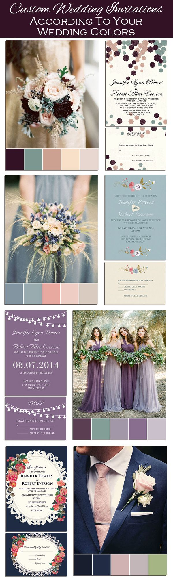 Custom DIY Wedding Invitations According to Your Wedding Colors