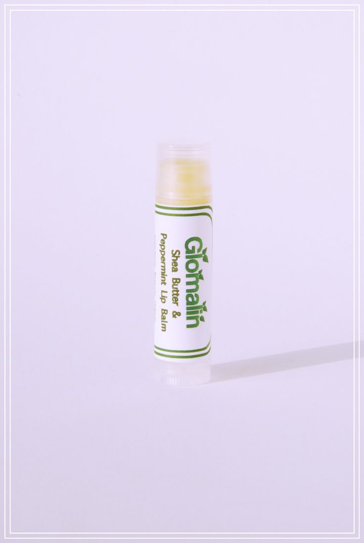 Glomalin Shea Butter Peppermint Lip Balm made from certified organic ingredients, shop at www.glomalin.ca