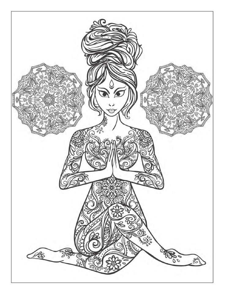 This Is A Free Preview Of The Book Yoga And Meditation Coloring For