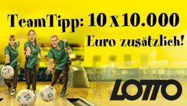 Lotto Team Tipp #Gewinnspiel: 10 x 10.000 Euro zusätzlich gewinnen