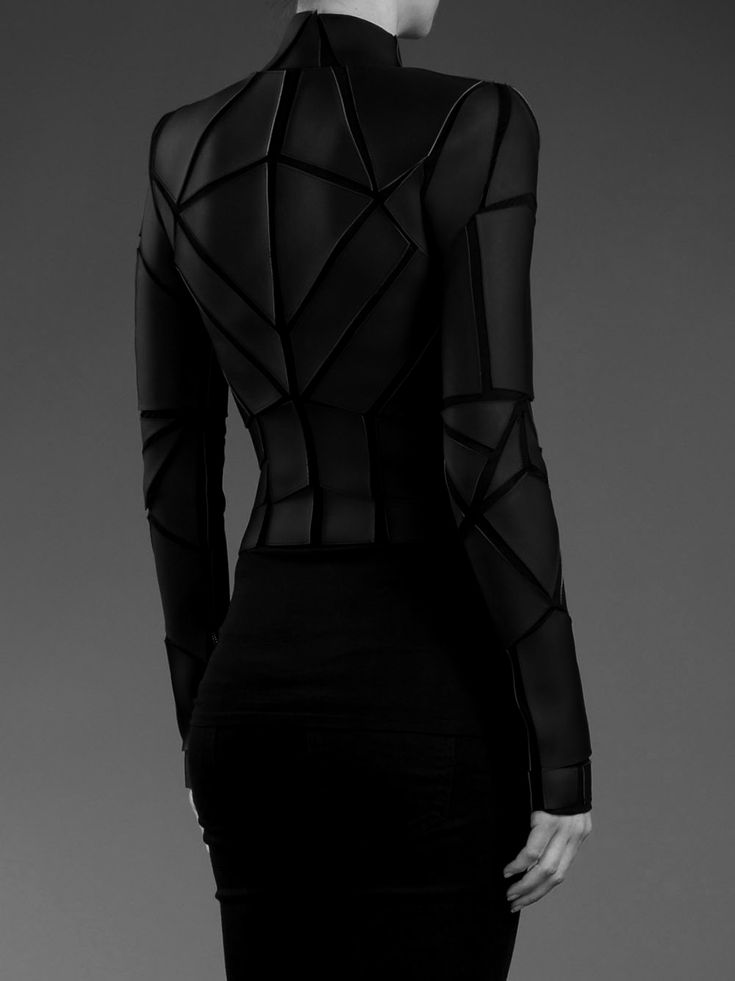 Gareth PughFuture Fashion, Futuristic Fashion, Fashion Details, Sheer Dresses, Futuristic Clothing, Gareth Pugh, Panels Jackets, Geometric Fashion, Geometric Panels