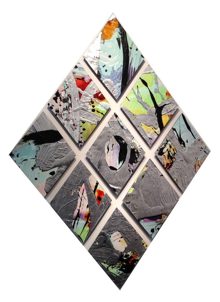 Cristina Popovici - Diamond 9 (mixed media on board) http://nzartsite.com/gallery-33
