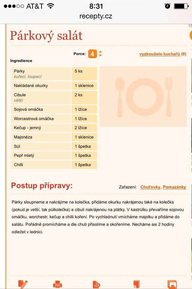 Párkový salát