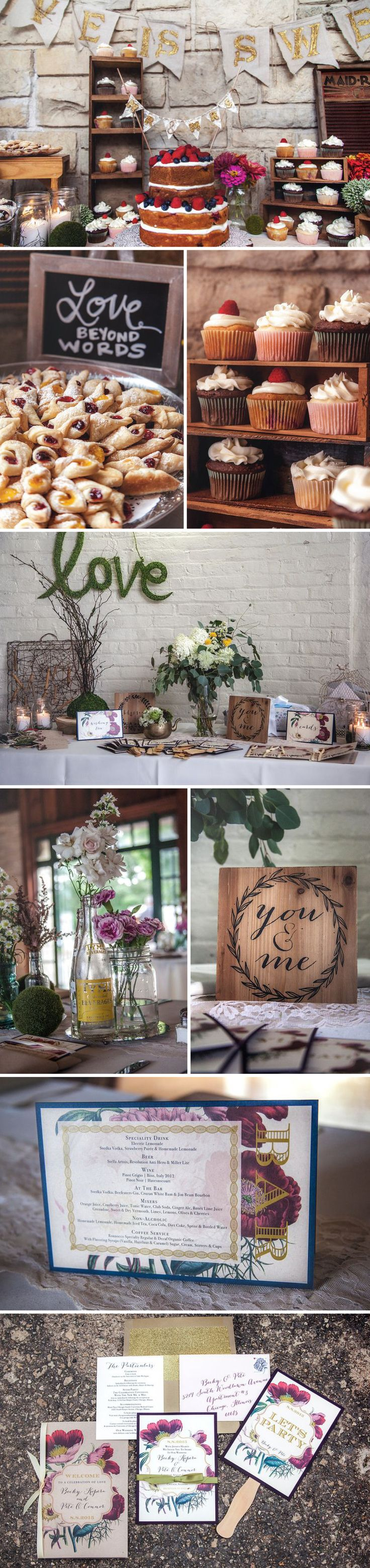 Becky + Pete | Rustic/Boho Inspired Chicago Outdoor Wedding with tons of D.I.Y. Details.