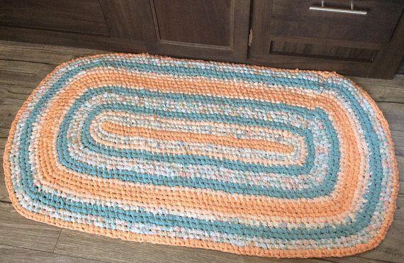 Make Your Own Woven Rag Rug Rag Rug Rugs Light Turquoise