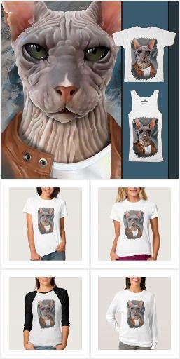 Serious sphinx Футболки, майки и другая яркая одежда, обувь, аксессуары с авторским портретом кошки породы Сфинкс. Вы можете купить одежду с этим рисунком, Такие вещи носить приятно, они обязательно поднимут настроение вам и окружающим. или с другими дизайнерскими принтами, а так же заказать портрет (нарисовать ) своего питомца. Для связи layanna@layanna.ru