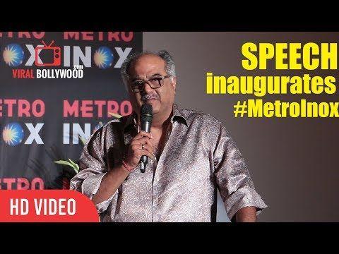 Boney Kapoor Full Speech At Inauguration Of Metro Inox | Mumbai