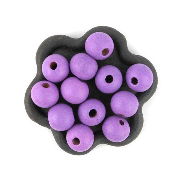 x50 Perle en bois violet 10mm (43C)