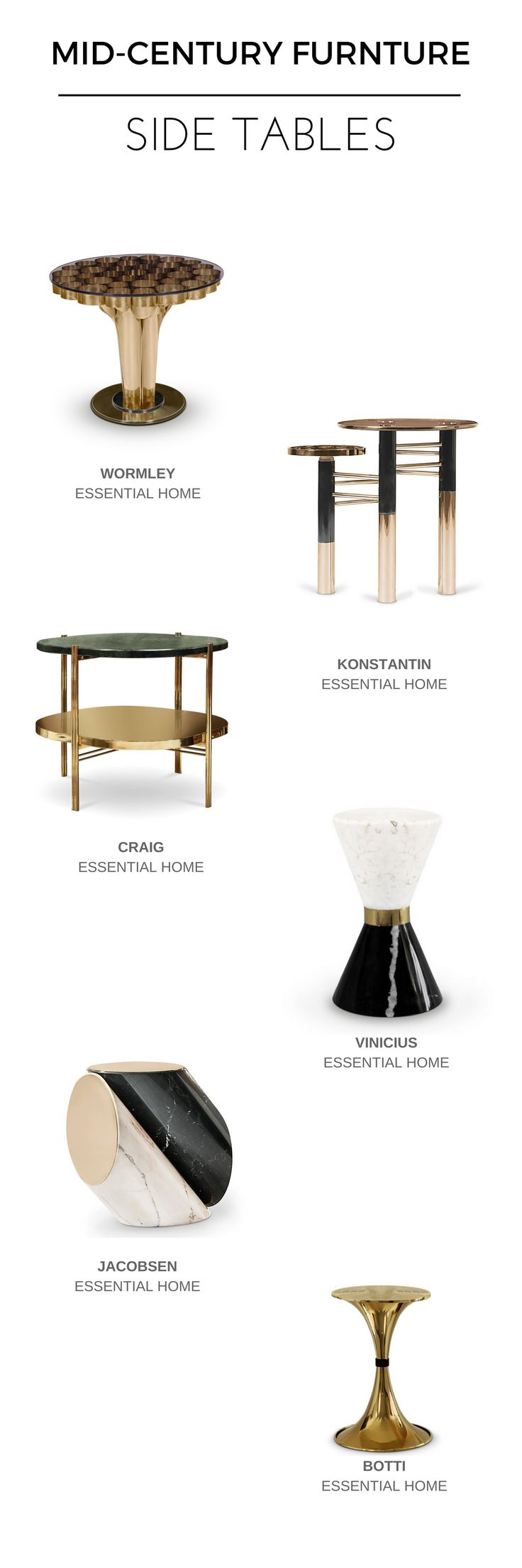 SIDE TABLES INSPIRATION