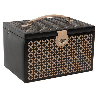 WOLF Chloe Large Jewelry Box Black - 301502