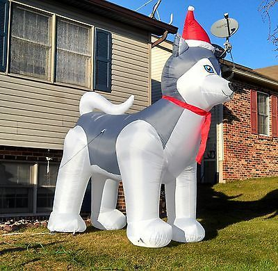 Husky Christmas Airblown Inflatable Light Up 9 Yard