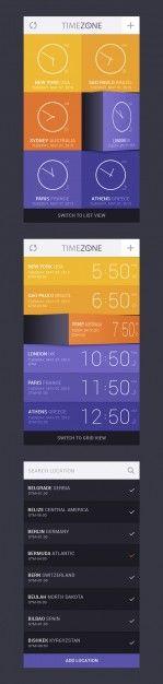 Timer zone concept app design Free Psd