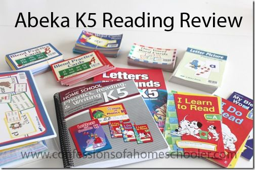 A Beka Book Reading Review - K5 - Confessions of a Homeschooler