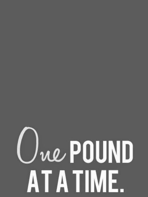 #weightloss  One pound is 3,500 calories, to me, that's a big deal!