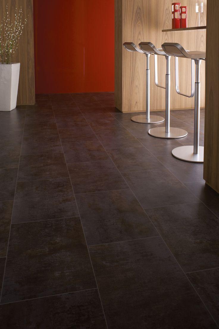 Hitex hqr by gerflor color verone grey for Parquet pvc clipsable gerflor