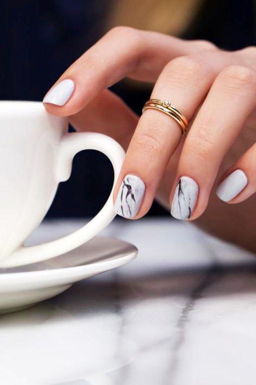 How To Do White Marble Nails | Le Fashion | Bloglovin':