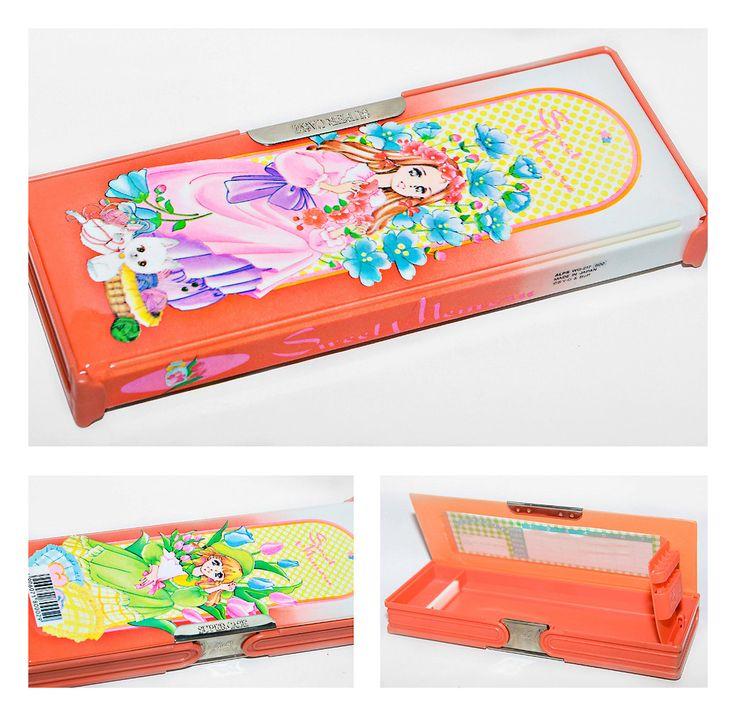 ALPS Vintage Japanese Pencil Case - Beautiful Shojo Illustration (Sweet Memoru) by cuoredimenta on Etsy https://www.etsy.com/listing/158173588/alps-vintage-japanese-pencil-case
