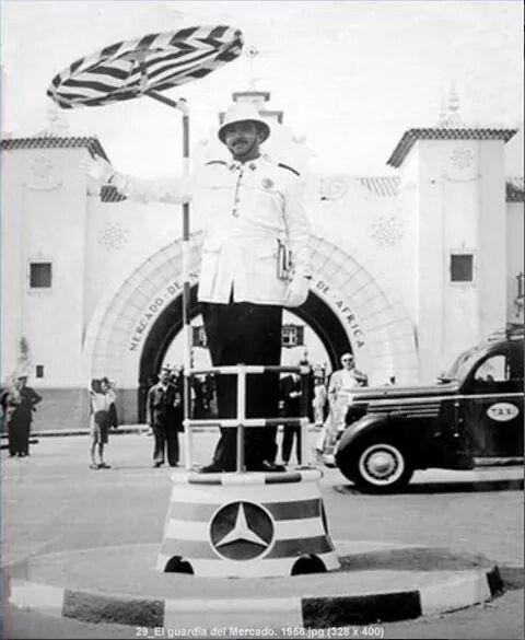 Guardia en el Mercado 1956