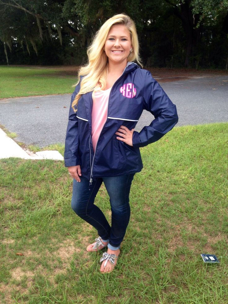 A personal favorite from my Etsy shop https://www.etsy.com/listing/205988945/monogrammed-rain-jacket