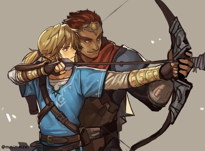 I love the idea that Ganondorf teaches Link how to use bow and arrow
