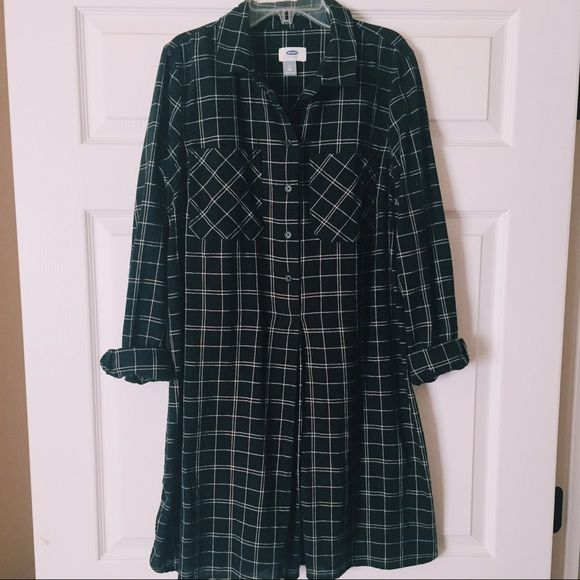 Flannel Dress Cute oversized flannel dress, great for any season! Old Navy Dresses Long Sleeve