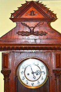 Horloge grand-père Gustav Becker antique en acajou circa 1880 City of Montréal Greater Montréal image 2