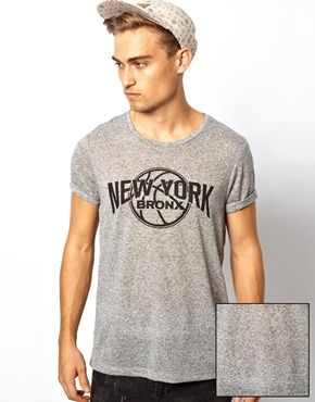ASOS T-Shirt With New York Basketball Print And Textured Jersey