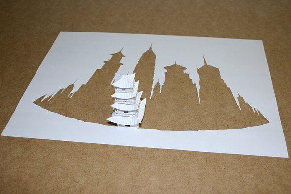 Paper Cuts, lart du découpage à partir dune feuille Photo