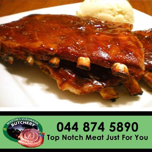 Craving for the perfect spare ribs cuts? Here at Martin's Vleismark, we have just that. So for your next braai, come grab our delicious ribs. #ribs #braai #butchery