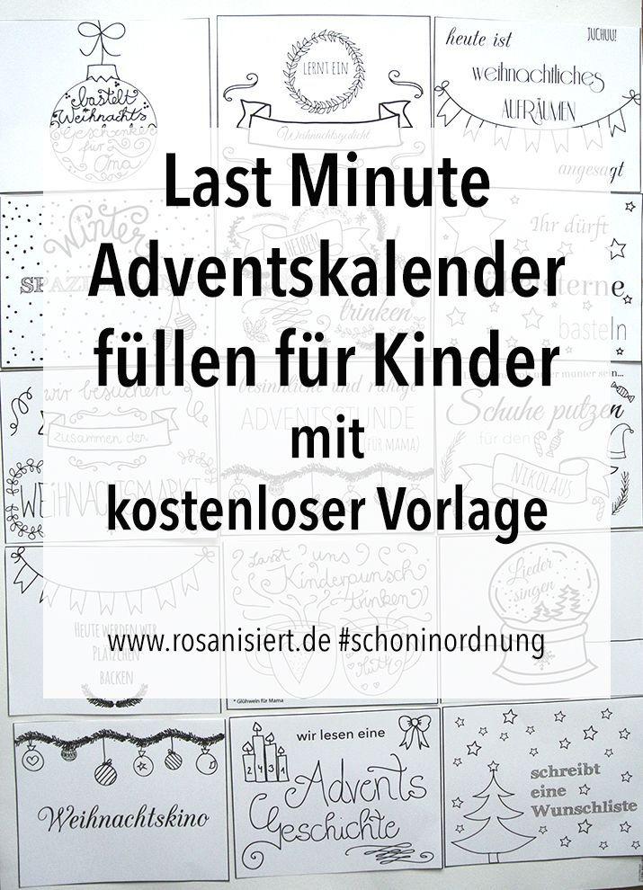 Last Minute Adventskalender Fullen Fur Kinder Zeit Statt Zeug Rosanisiert Adventkalender Zeit Statt Zeug Adventskalender