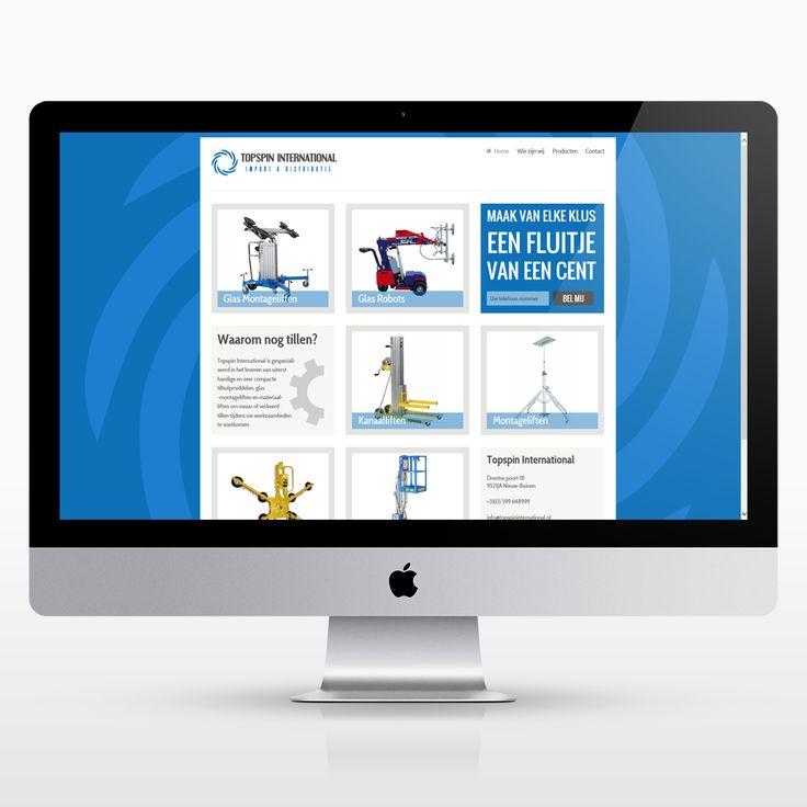 New website design for a lifting  machine company