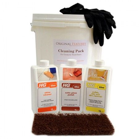 This tile cleaning kit will work wonders on all Victorian encuastic tiles! It comes with an intense cleaner as well as the finishing sealer, check it out