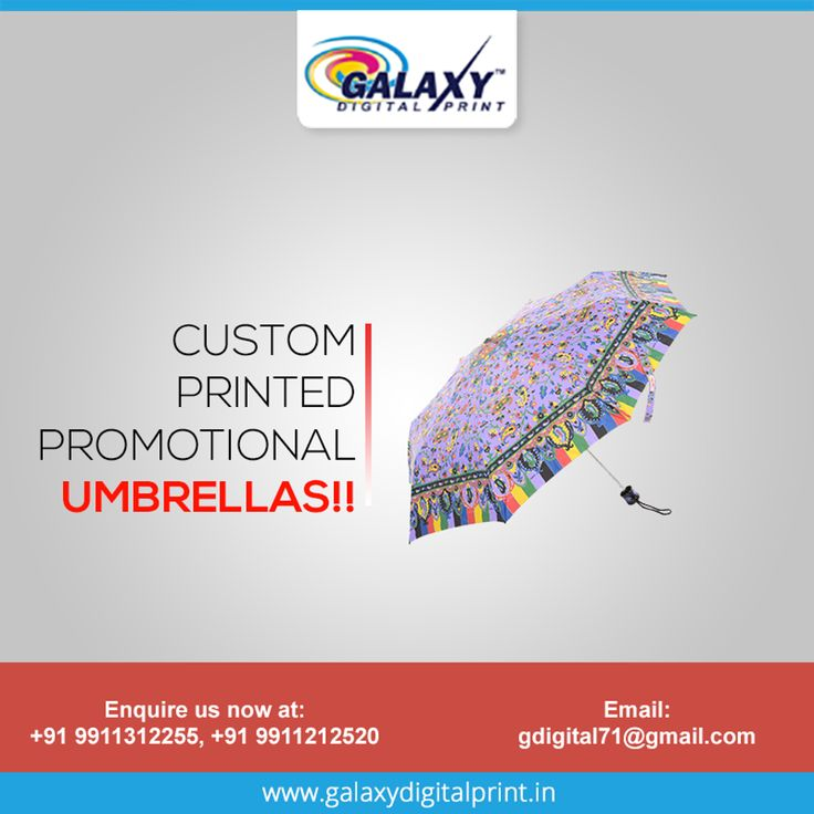 Take advantage of this rainy season and show your brand to the world. Get umbrellas printed with your company's logo or marketing message. Place your bulk order at - gdigital71@gmail.com  #UmbrellaPrinting #DigitalPrinting #Customprinting #PrintingInDelhi
