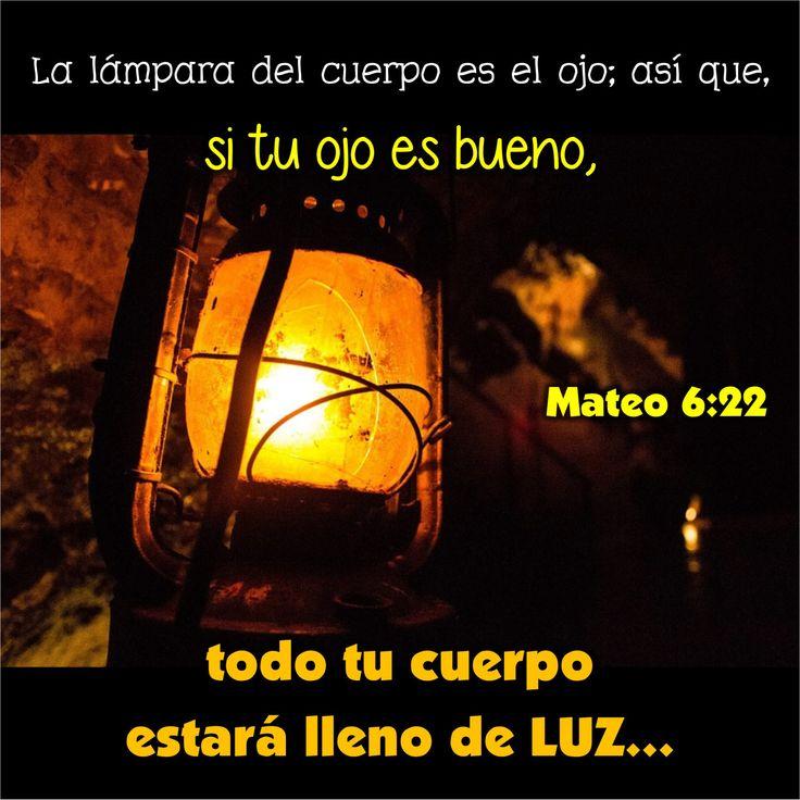 """Cavernas.  Mateo 6:22, 23 """"La lámpara del cuerpo es el ojo; así que, si tu ojo es bueno, todo tu cuerpo estará lleno de luz; pero si tu ojo es maligno, todo tu cuerpo estará en tinieblas. Así…"""