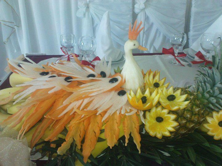 Best images about fruit carvings on pinterest