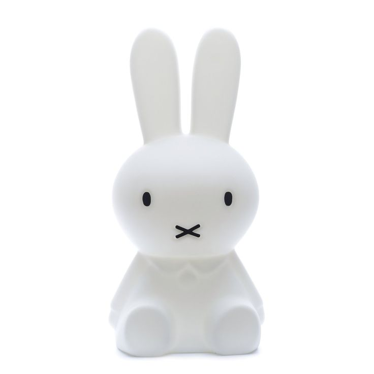 Lámpara infantil decorativa de suelo con forma de conejo blanco Miffy XL